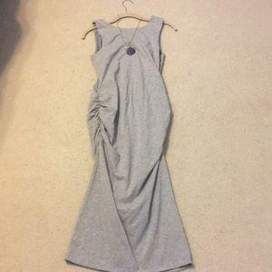 Athleta long-maxi cotton fitted dress medium